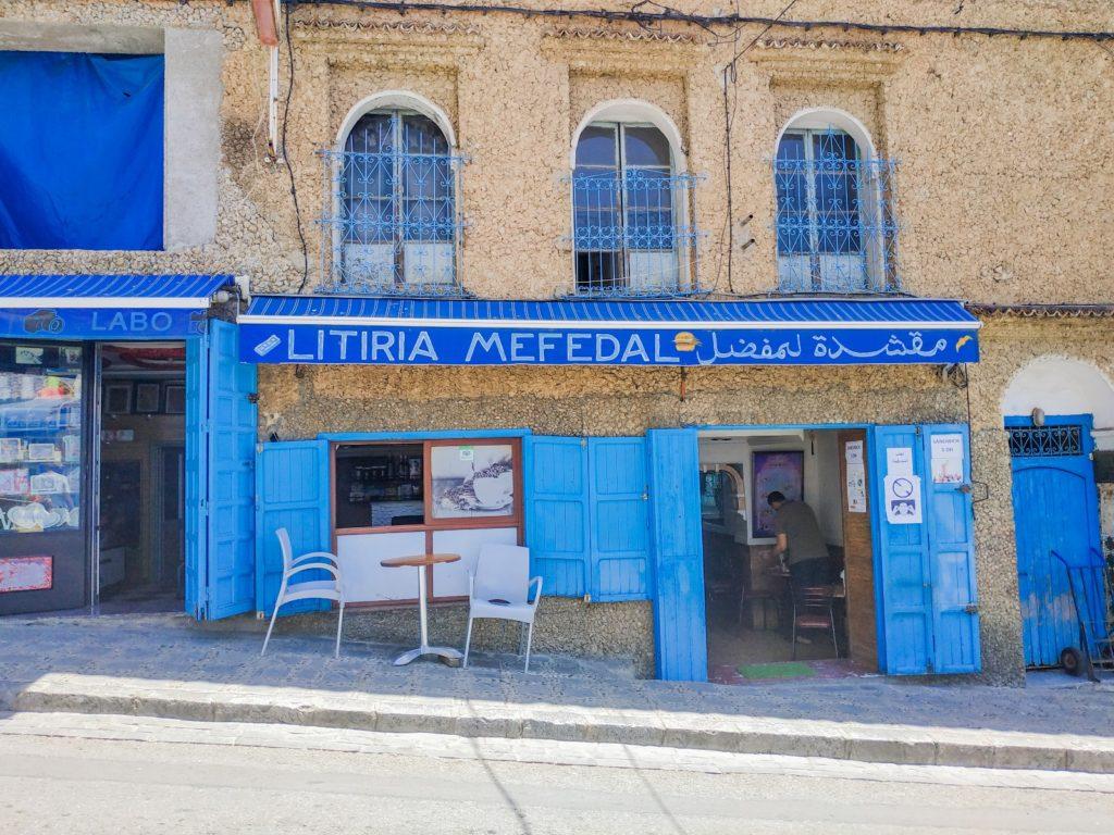 Lokalna restauracja w Chefchaouen