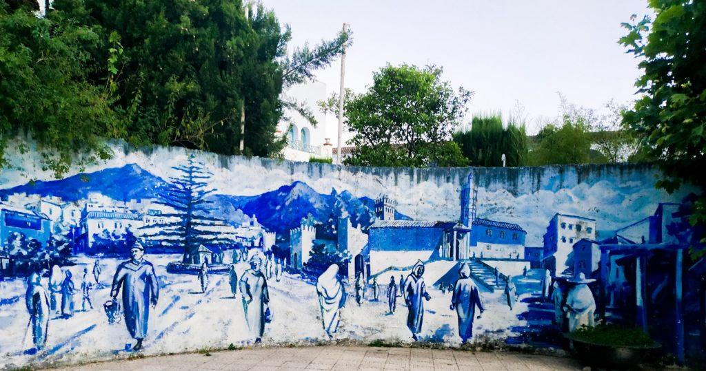 Mural w Chefchaouen