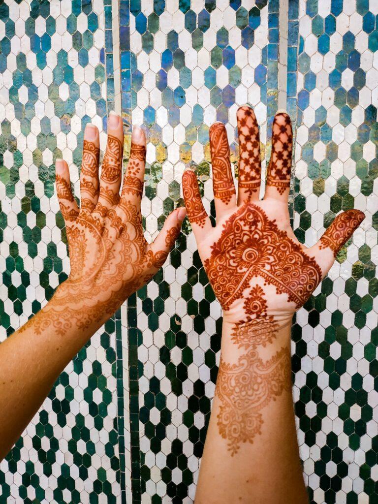 tatuaż z henny maroko