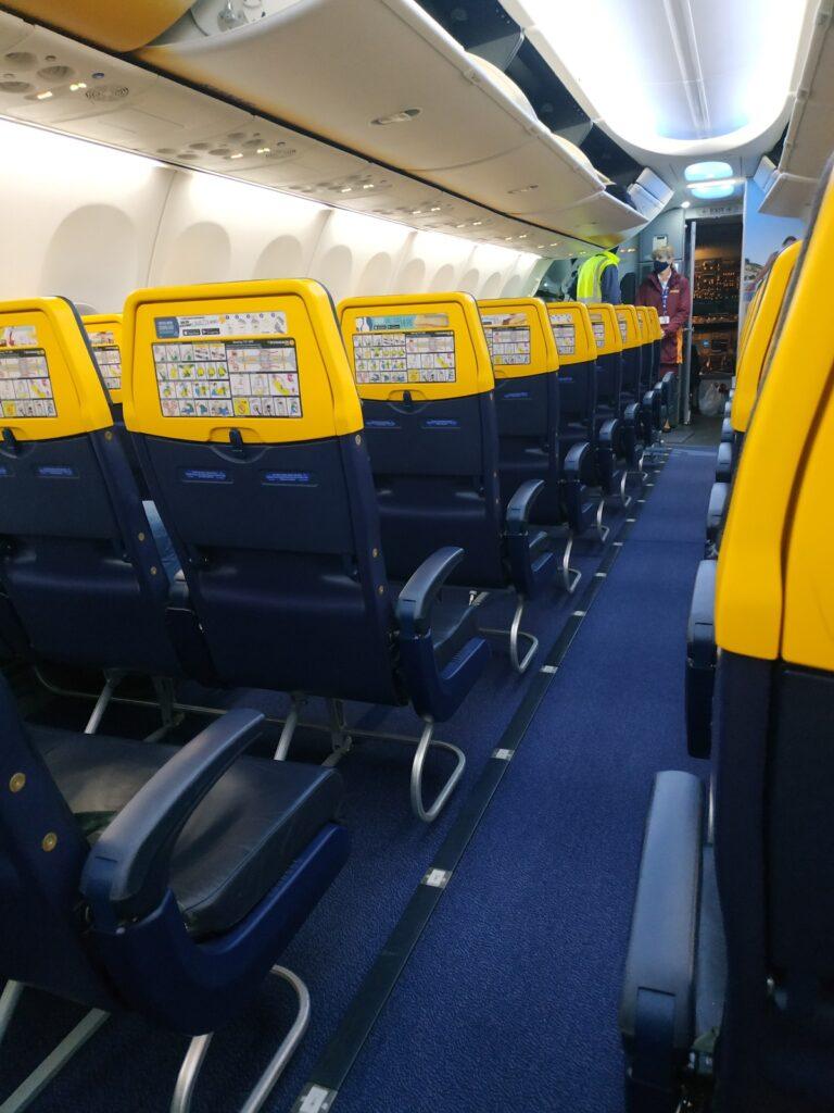 pusty samolot podróż do Maroka