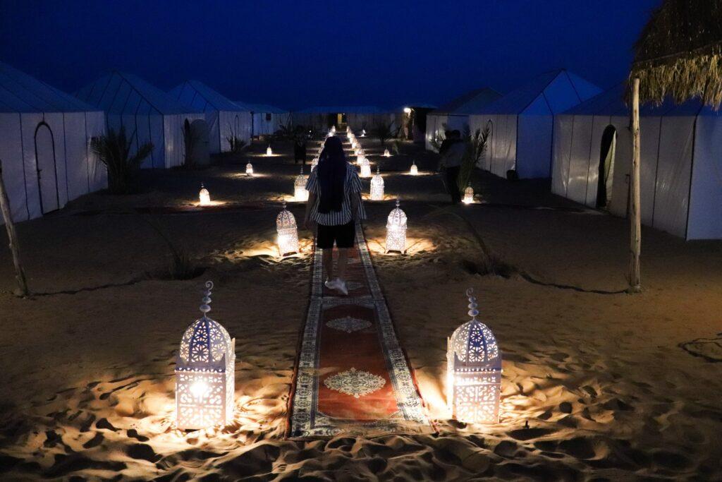 desert camp obóz na pustyni Merzouga Maroko